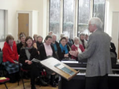 Ralph Allwood rehearsing BCS members for Mozart's Requiem 2012